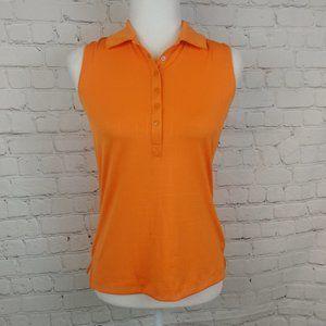 NWT Slazenger Orange Collared Sleeveless Top XS